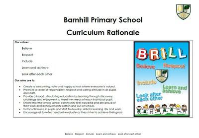 Curriculum Rationale